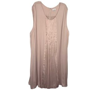 Ellos Mauve Pink Sleeveless Pleated Dress Size 5X